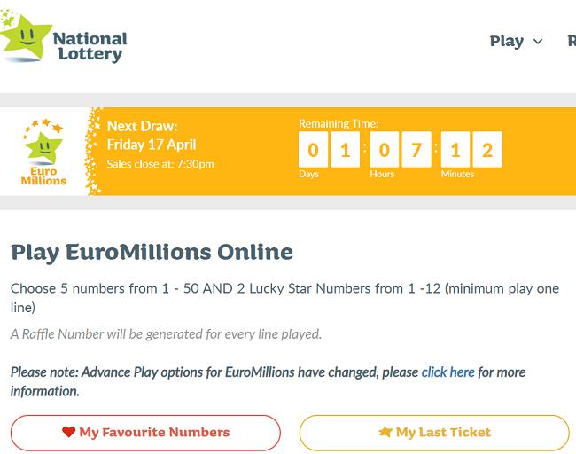Euromillions Ireland Only Raffle